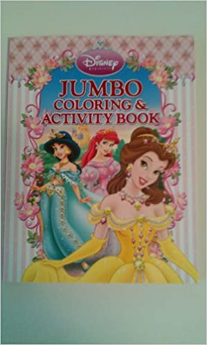 Disney Princess Jumbo Coloring Activity Book Amazon Books