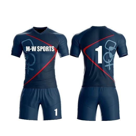 f5f3c68cb2b76 Amazon.com: Custom Blue and White Sport wear Football Sport t-Shirt ...