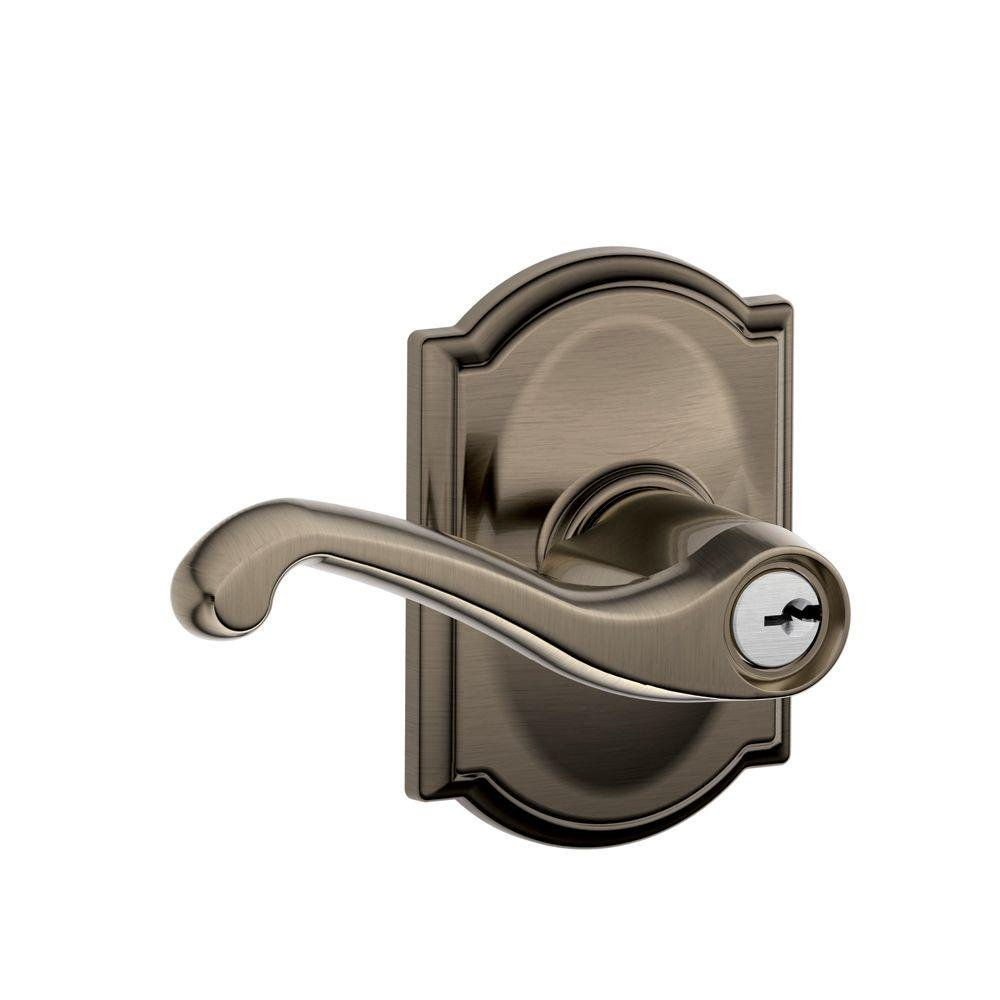Good Schlage F40 FLA 613 CAM Camelot Collection Flair Privacy Lever, Oil Rubbed  Bronze   Privacy Door Levers   Amazon.com Nice Look