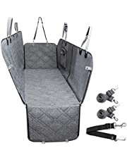 Dog Car Seat Cover Waterproof Pet Seat Cover with Mesh Visual Window & Seat Belt