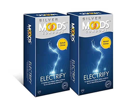 Moods Silver Electrify Condom - 12 Count (Pack of 2)