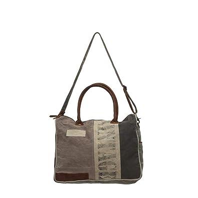 ecfbd08bb11b Amazon.com: Myra Bag Vintage Upcycled Canvas Messenger Bag S-0711: Shoes