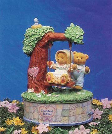 Enesco's World of Music Cherished Teddies Picnic in the Park Multi-action Musical Box