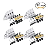 Simple Deluxe 12-Pack Clamp Lamp Light with 8.5 Inch Aluminum Reflector up to 150 Watt E26 (no Bulb Included) 6 Feet 18/2 SPT-2 Cord UL Listed
