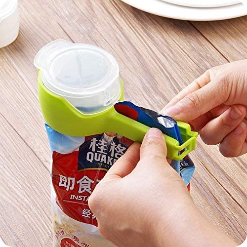 5x Kitchen Storage Food Snack Seal Sealing Bag Clip Sealer Clamps Plastic Tool