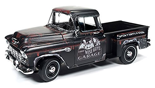 Chevrolet 1955 Stepside Pickup Truck The Three Stooges Limited Edition to 1002pcs 1/18 by Autoworld AWSS115