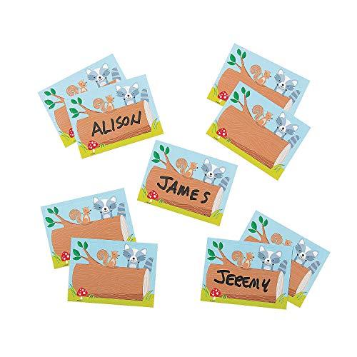 Fun Express - Woodland Friends Classroom Labels - Educational - Classroom Decorations - Bulletin Board Decor - 36 Pieces