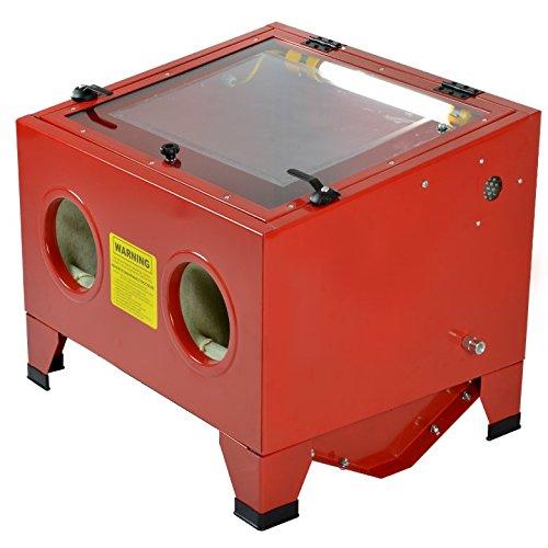ARKSEN© 25 Gallon Bench Top Sand Blaster Cabinet Abrasive Air Sand Blast 80PSI Auto Part