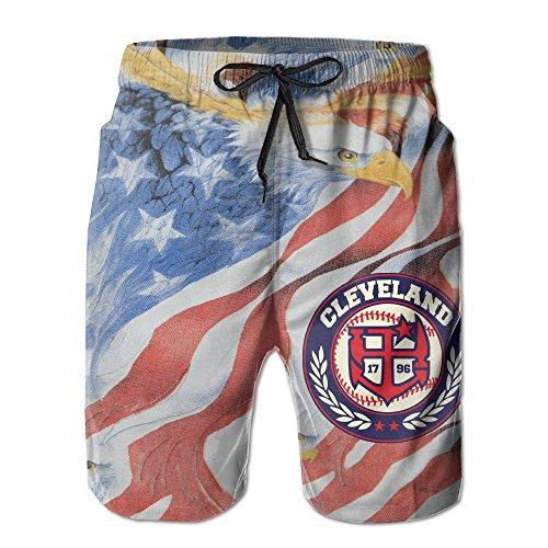 - Men's Wahoo Cleveland Baseball Fashion Beach Pant Tide Stamp Shorts