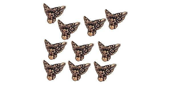 eDealMax 37mmx25mmx15mm de joyas de estilo retro de la esquina del soporte del protector de tono de cobre 10pcs - - Amazon.com