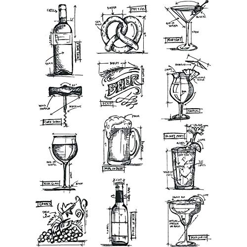 Tim Holtz CMS336 Cling Stamps 7