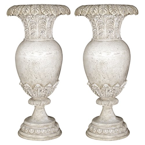 Design Toscano Versailles Floral Oviform Urn: Set of Two by Design Toscano