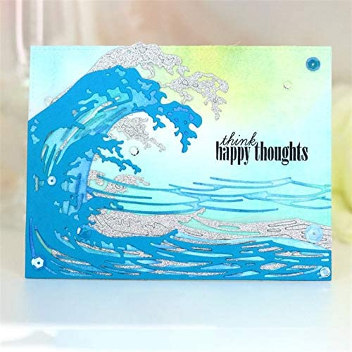 Wave Frame Cutting Dies,Letmefun Metal Cutting Dies Stencils for Card Making Scrapbooking Making Embossing Cuts Stencil Craft New 2019 for Dies