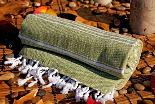 Olive Green Peshtemal Swimming Backpacking