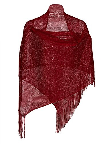 Vijiv Women's 1920s Gatbsy Vintage Shawl Wrap For Bridal Prom Wedding Party Evening Dresses ()