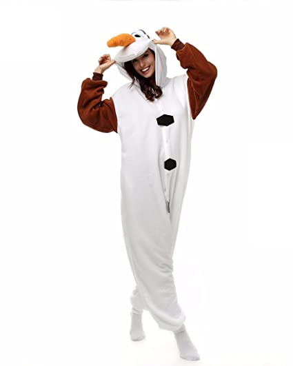 HYY@ Unisex Flannel Onesie Plus Size pyjama animaux Women Cosplay Costume Olaf Animal Sleepwear Sleepsuit