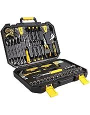 DESOON Household Hand Tools,Home Auto Repair Hand Tool Set with Plastic Tool Box Storage …