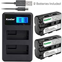 Kastar Battery (X2) & LCD Dual Charger for Sony NP-FM500H, NP-FM500 and Sony Alpha SLT A57 A58 A65 A77 A77V A77II A99 A350 A450 A500 A550 A700 A850 A900 CLM-V55 DSLR Camera & VG-C77AM Grip