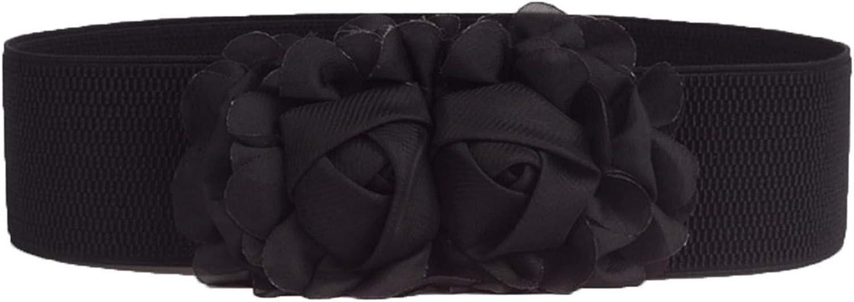 JIER Liquidación Cinturón elástico de Cintura Ancha, Color sólido, para Todas Las Flores, para niñas y Mujeres