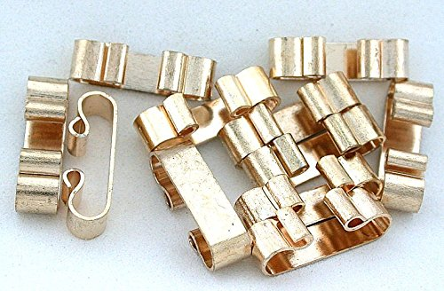Eight 7/10 Inch Gold Color Bola Bolo Tie Slides Cf476