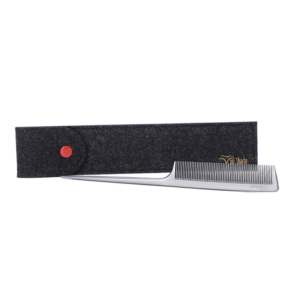 Tail Comb,Comb Rat Tail Hair Salon Cutting Comb Hair Comb 200℃ Heat Resistant Round Teeth Bristle Barber Comb,Salon Styling Comb for Hair Partition/Remove Knots/Rattail Lift Hair/Hair Cutting/Dying