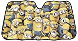 minion car sun shade - Plasticolor 003798R01 Universal Minions Crowded Accordion Bubble Sunshade