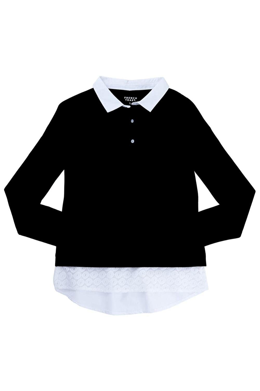French Toast Girls Long Sleeve Jersey Lace 2-Fer