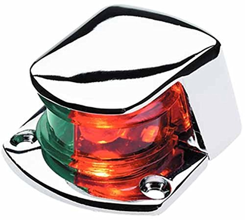 (Seachoice 02031 LED Bi-Color Bow Light - Zamak, Red and Green Lenses, 1-Mile Visibility for Sail or Powerboats Under 39 Feet)