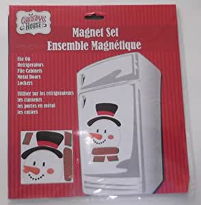 1 X Jumbo Christmas Magnet Set - Snowman - Indoor/Outdoor - Refrigerator, Car, Metal Door and More