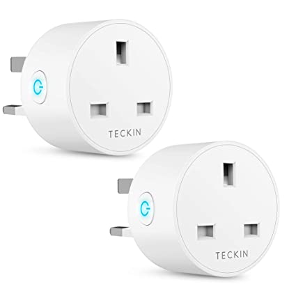 0985b81cd3 Smart Plug WiFi Outlet TECKIN Mini Plug Works with Amazon Alexa, Google  Home and IFTTT, Wireless Smart Socket Remote Control Timer Plug Switch, No  Hub ...