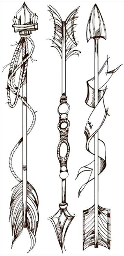 Tatuajes temporales de flechas tribales minimalistas para hombre y ...