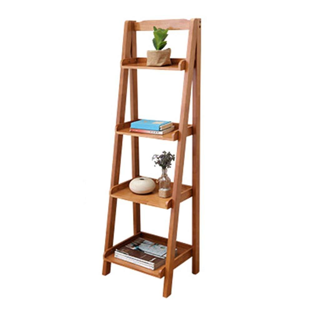 Jcnfa-Shelves Vintage Bookshelf Portable Ladder Shelf Bookcase Wall Shelf Vintage Storage Ladder Shelf Ladder Spine Tower Shelf (Color : Teak Color, Size : 17.3214.1755.11in) by Jcnfa-Shelves