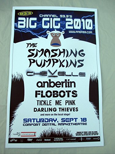2010 Smashing Pumpkins Chevelle Denver Concert Poster The Big Gig