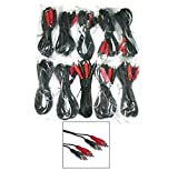 IMC AUDIO 9ft Interconnect 2 RCA Audio Cables Bulk 10 Pack Black Red