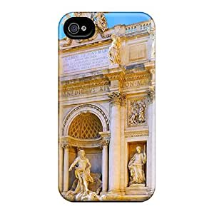Hot OWA242jWvc Case Cover Protector For Iphone 4/4s- Trevi Fountain