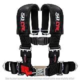 50 Caliber Racing Black 3 inch 4 Point Racing Harness Seat Belt