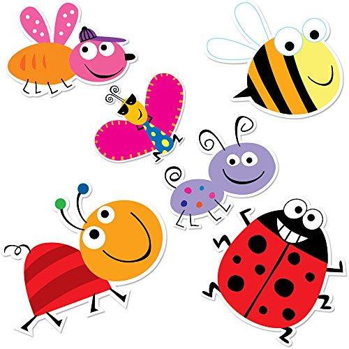 Creative Teaching Press Bugs 10-Inch Jumbo Designer Cut-Outs ()