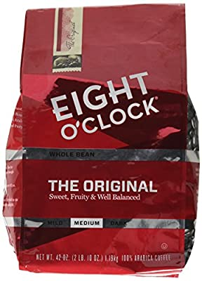 Eight O'Clock Whole Bean Coffee, The Original, 42 Ounce (Packaging May Vary) from Eight O'Clock Coffee