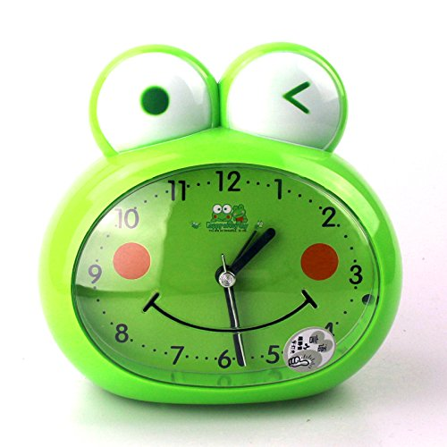 - Cute Frog-Shaped Pig-Shaped Alarm Clock For Kids With Night-Light (Frog-Shaped)