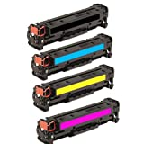 HI-VISION HI-YIELDS Compatible Toner Cartridge Replacement for Hewlett-Packard (HP) CC530A CC531A CC532A CC533A (1 Black, 1 Cyan, 1 Yellow, 1 Magenta, 4-Pack), Office Central