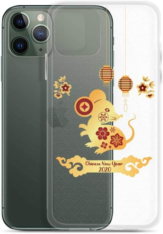 Compatible for iPhone 11 Pro Max 2020 Happy Chinese New Year of Rat Gold Mouse Rodents Anti Bumps Scratches