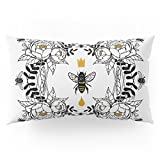 Society6 Queen Bee Pillow Sham King (20'' x 36'') Set of 2