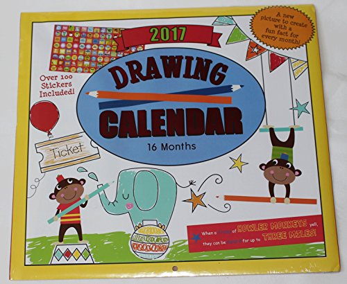 Paper Craft 2017 Kids Childrens 16 Month Calendar with over 100 Stickers (Drawing)