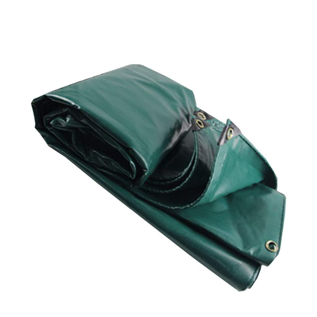 YX-Planen Starke Plane Grüne Zeltunterlagen für alle Zwecke - Super wasserdichtes Planenblatt für zu Hause und im Garten Schwerlast - Dicke 0,43 mm, 530 g m²