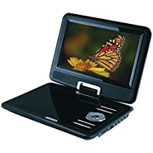 Sylvania SDVD9000B2-D-BLACK 9-Inch Portable DVD Player with Car Bag/Kit, Swivel Screen, USB/SD Card Reader, Piano Black Finish