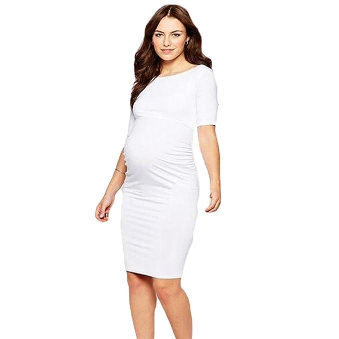 Binhee Temperamento del Vestidos Fiesta Maternidad Mujeres Blancas Embarazadas Desgaste del Verano