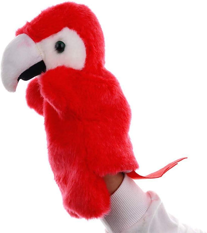 Kappha Marioneta de Mano Loro Lindo Peluche de Peluche Muñeca Animal Excelente para Contar Historias Rendimiento de la Etapa de enseñanza para niños