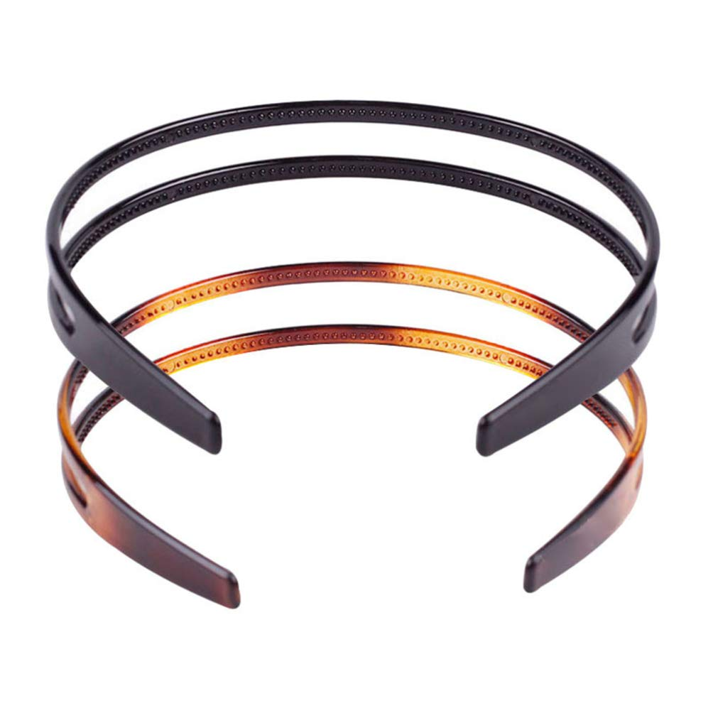 Toothed Headbands Plastic Hair Band Anti-slip Hair Hoop Daily Headpiece for Women Girls 2pcs