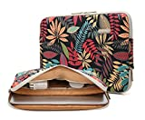 Kayond canvas Water-resistant 15-15.6 Inch Laptop Sleeve Case Bag (15-15.6 Inches, Forest series Black)