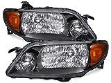 Mazda Protege 4-Door Sedan Metal Bezel Headlights Set New